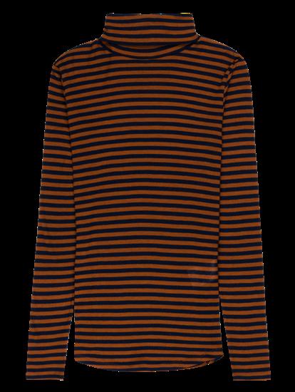 Bild von Shirt mit Rollkragen und Streifen