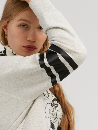 Bild von Sweatshirt mit Print und Foulard