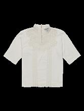 Bild von Shirt aus Flammgarn mit Spitze