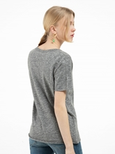 Bild von Oversized T-Shirt in melierter Optik
