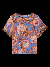 Image sur Blouse mélange de matières et imprimé floral