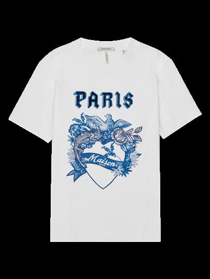 Bild von T-Shirt mit Print und Stickerei
