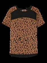 Bild von T-Shirt aus Material-Mix mit Leo-Print