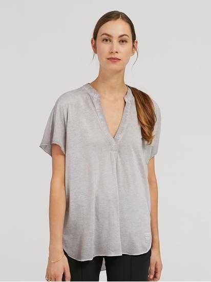 Image sur Shirt oversized mélange de matières