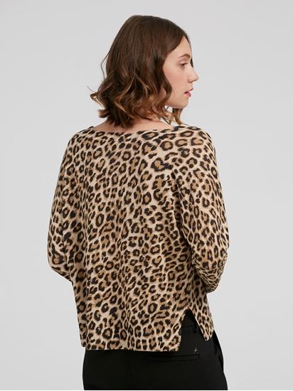Bild von Oversized Pullover mit Leo-Print