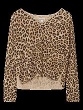 Image sur Pullover oversized imprimé léopard