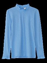 Bild von Shirt aus Flammgarn mit Rüschen