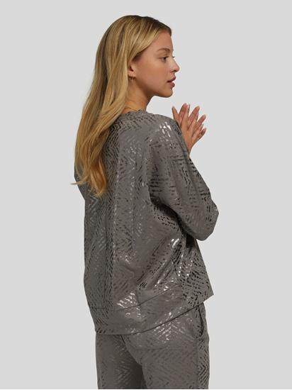 Bild von Sweatshirt mit Metallic-Print