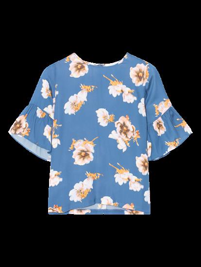 Image sur Blouse avec imprimé fleuri et volants