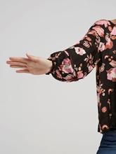 Bild von Bluse mit Blumen-Print und Ballonärmeln