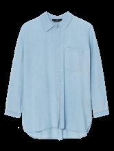 Bild von Oversized Bluse in Denim-Optik