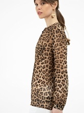 Image sur Blouse imprimé léopard