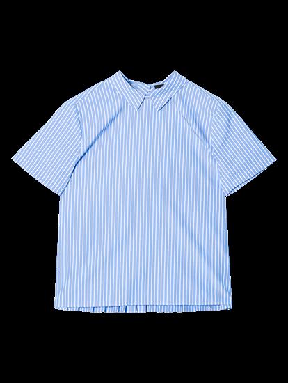 Bild von Bluse mit Streifen und Plissee