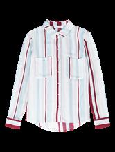 Bild von Bluse mit Streifen und Brusttaschen