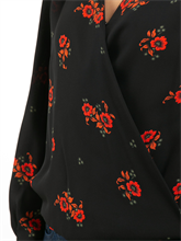 Bild von Bluse in Wickel-Optik mit Blumen-Print