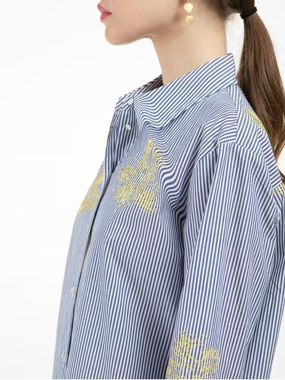 Bild von Bluse mit Streifen und Stickerei