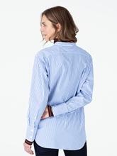 Bild von Bluse mit Streifen und Brusttasche