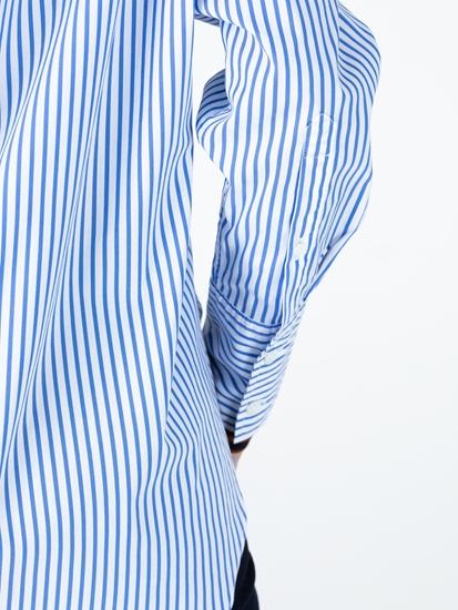Image sur Blouse rayée et poche poitrine