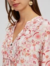 Image sur Blouse avec imprimé floral et volants