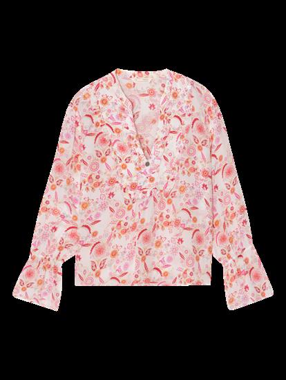 Bild von Bluse mit Blumen-Print und Rüschen