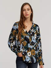 Bild von Oversized Blusenshirt mit Blumen-Print