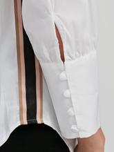 Image sur Blouse oversized à rayures latérales
