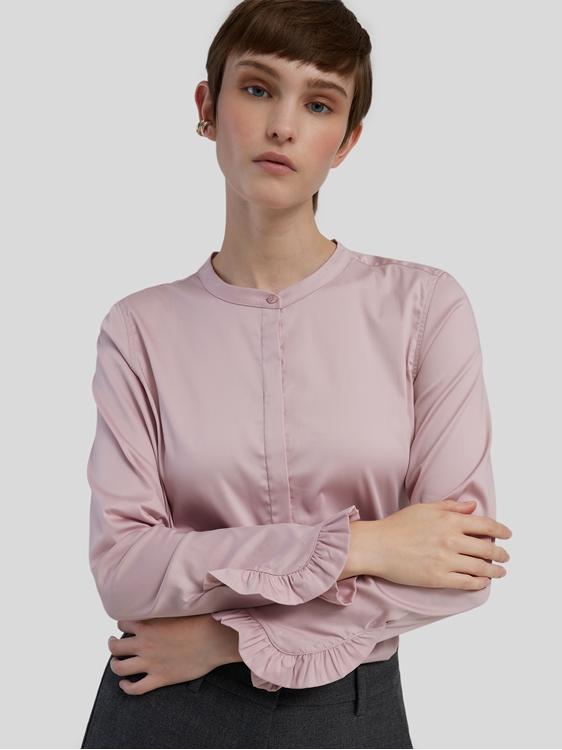 Bild von Stretch Bluse mit Rüschen-Details MATTIE