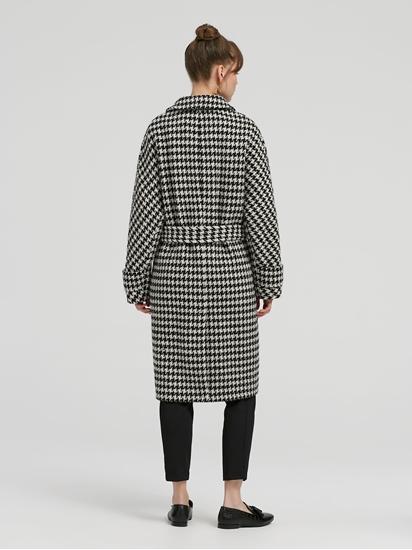 Image sur Manteau avec ceinture à nouer motif Prince-de-Galles