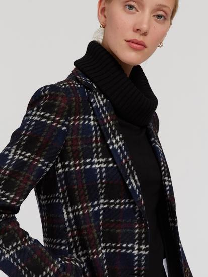 Image sur Mnateau laine à carreaux