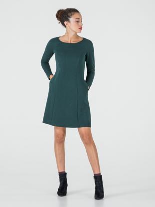 Hallhuber plissee kleid grun