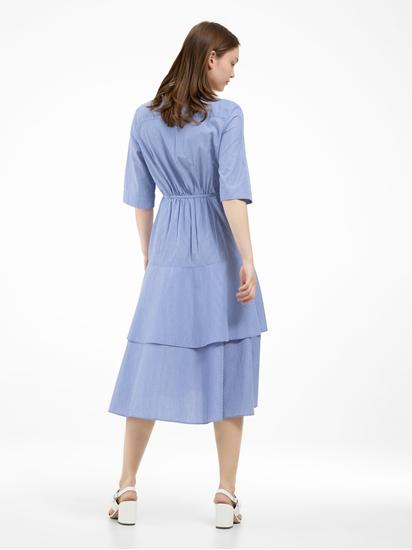 Bild von Blusenkleid mit Streifen und Volant