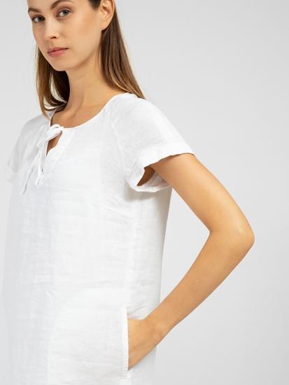 Image sur Robe en lin avec poches
