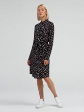 Bild von Kleid mit Blumen-Print und Bindegürtel