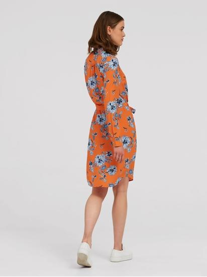 Image sur Robe chemisier imprimé de fleurs et ceinture à nouer