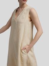 Bild von Leinenkleid in A-Form