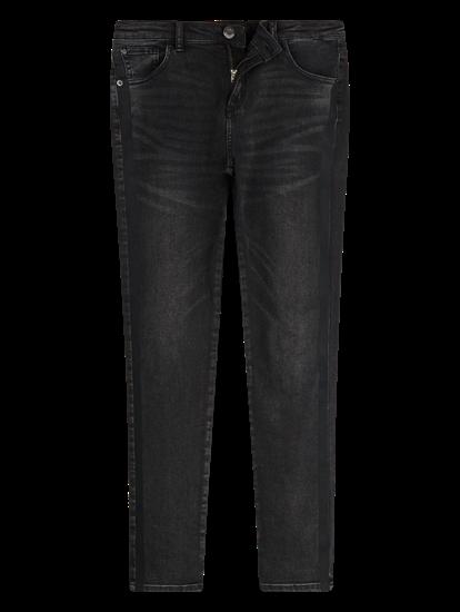 Image sur Jean à rayures latérales ELY BLACK