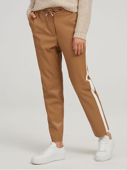 Image sur Pantalon similicuir rayures latérales MANU