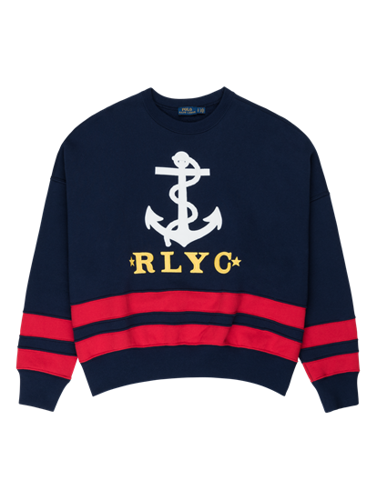 Image sur Pullover oversize  avec broderies et rayures