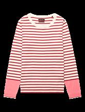 Bild von Pullover mit Streifen und Kontrast-Ärmel