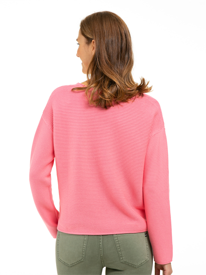 Image sur Pullover maille oversized à rayures