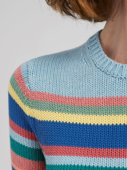 Image sur Pullover maille à rayures