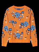 Image sur Pullover maille avec motif floral