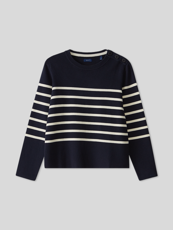 Image sur Pull maille à rayures