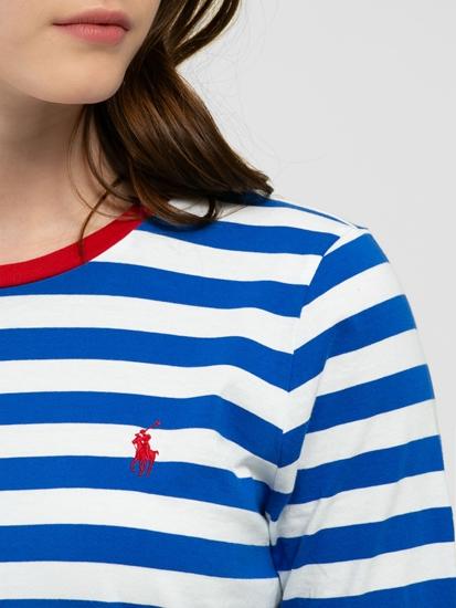 Image sur Shirt avec rayures et logo