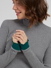Image sur Pullover col roulé texturé