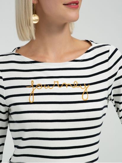 Bild von Shirt mit Streifen und Stickerei