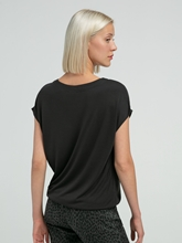 Bild von T-Shirt aus Material-Mix SILVIA