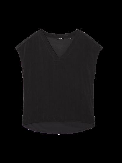 Image sur T-shirt mélange de matières SILVIA