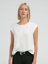 Image sur T-shirt mélange de matières SELISA