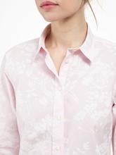 Image sur Blouse à rayures et imprimé floral